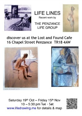 Life LInes Penzance Cornwall art exhibition poster