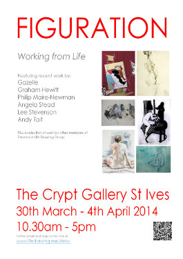 Figuration St Ives art exhibition poster