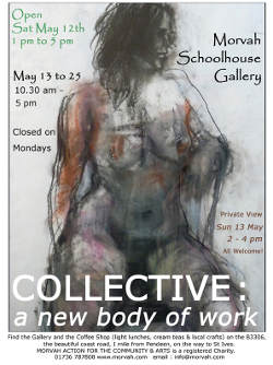 St Just Collective life drawing exhibition poster