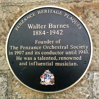 The Band Room Penzance Cornwall Walter Barnes plaque
