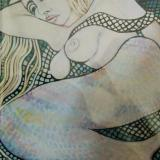 mermaid and net
