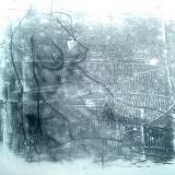seated woman monoprint