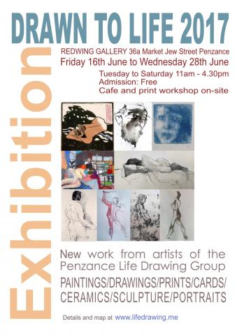Life Drawing Exhibition Poster