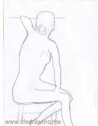 seated woman pencil life drawing