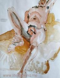 reclining man