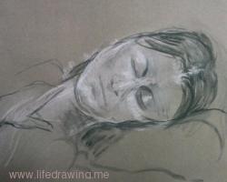 portrait of a sleeping lady