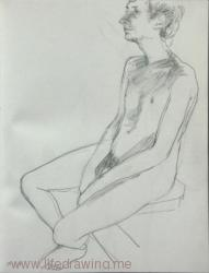 young man nude Cornwall
