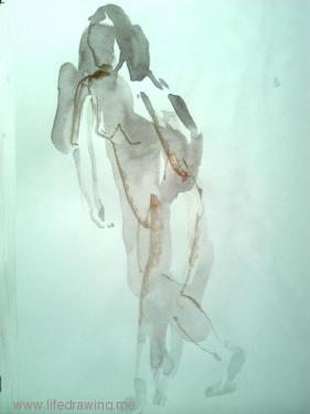 figure in motion gesture drawing