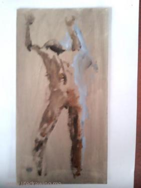 oil sketch of male back