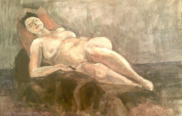 reclining life drawing Cornwall