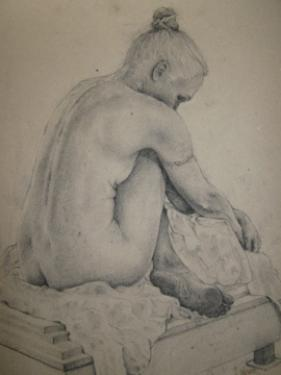 Life drawing of woman Stives Cornwall