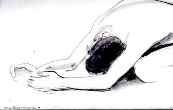 crouching figure drawing