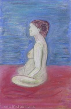 nude pregnant Newlyn woman