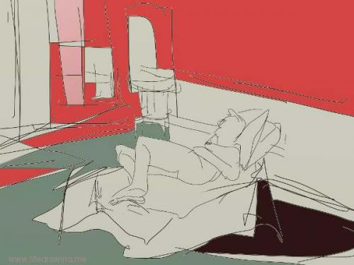 ipad sketch of  woman st ives